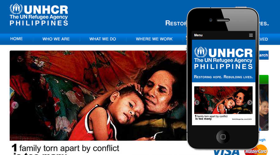 UNHCR Responsive Website by 2elev8 Media